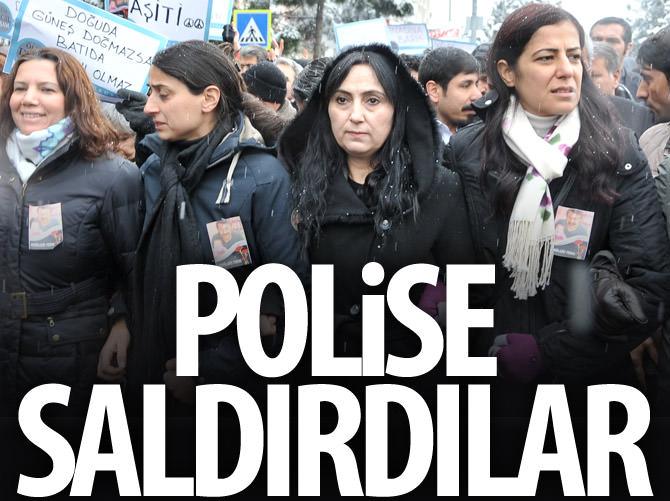 YÜKSEKDAĞ'IN DA BULUNDUĞU GRUPTAN POLİSE SALDIRI