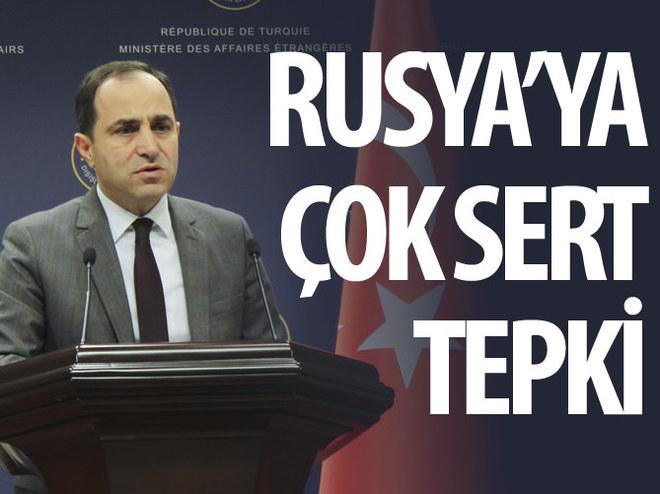 DIŞİŞLERİ'NDEN RUSYA'YA PKK TEPKİSİ
