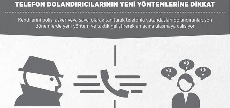 TELEFON DOLANDIRICILARININ YENİ YÖNTEMLERİNE DİKKAT