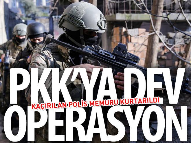 TERÖRİSTLERİN KAÇIRDIĞI POLİS MEMURU OPERASYONLA KURTARILDI
