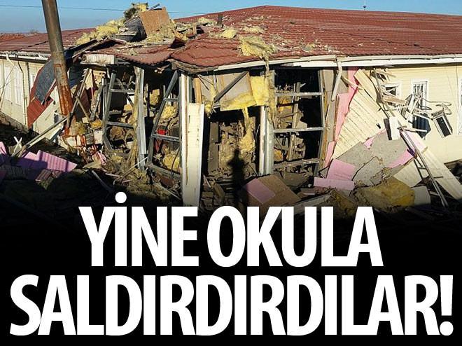 PKK'LI TERÖRİSTLER YİNE OKULA SALDIRDI!