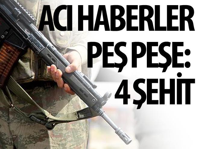 DİYARBAKIR VE ŞIRNAK'TA 4  ŞEHİT!