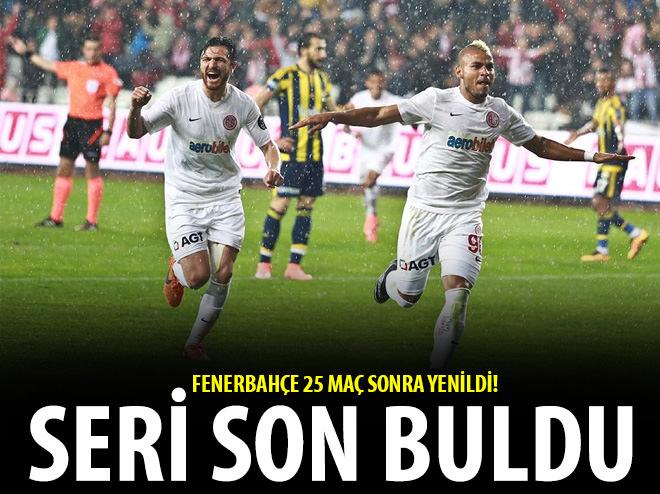 FENERBAHÇE'NİN SERİSİ ANTALYA'DA SON BULDU!