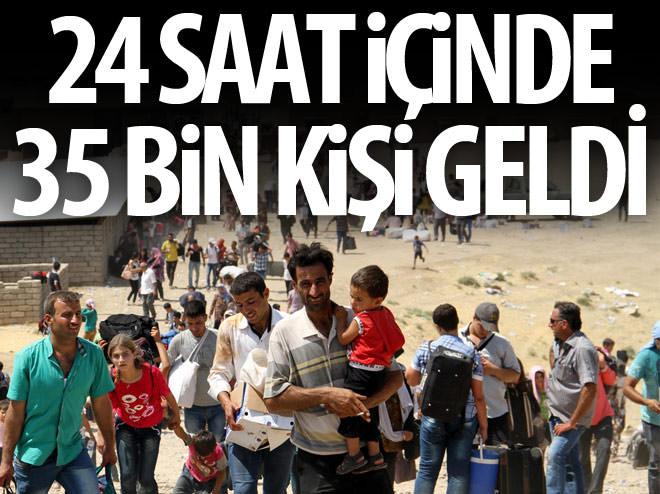 24 SAAT İÇİNDE 35 BİN SIĞINMACI GELDİ