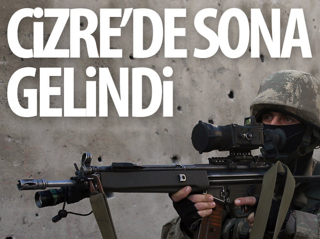 CİZRE'DEKİ OPERASYONDA SONA DOĞRU