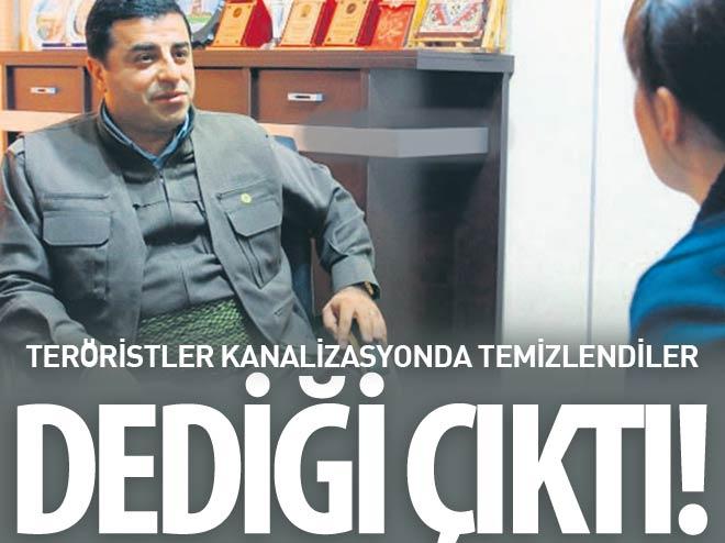 DEMİRTAŞ'IN DEDİĞİ ÇIKTI, KANALİZASYONDA TEMİZLENDİLER!