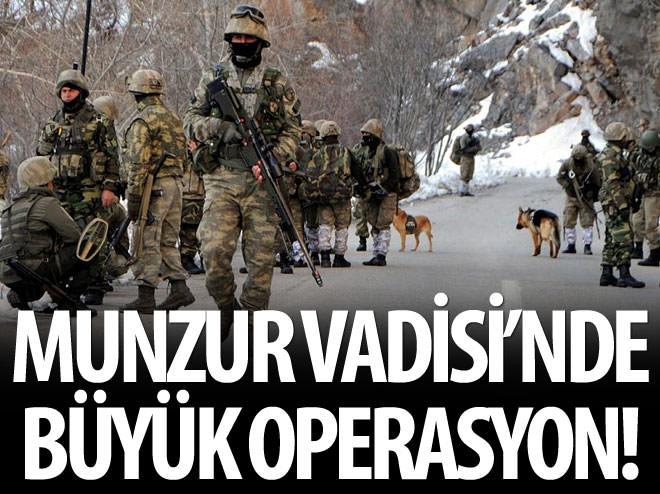 MUNZUR VADİSİ'NDE PKK'YA BÜYÜK OPERASYON!