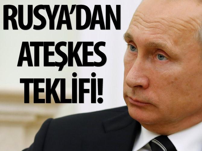 RUSYA'DAN SURİYE İÇİN ATEŞKES TEKLİFİ!