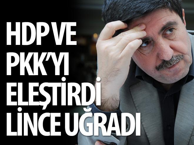 HDP'Lİ ALTAN TAN'DAN HDP VE PKK ELEŞTİRİSİ