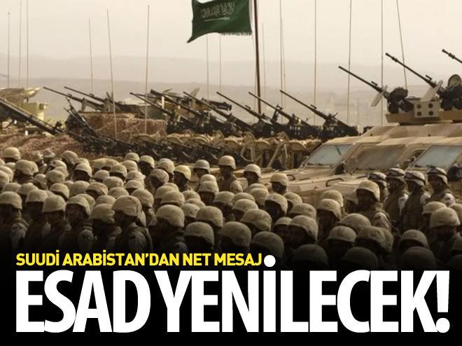 SUUDİ ARABİSTAN'DAN NET MESAJ: ESAD YENİLECEK!