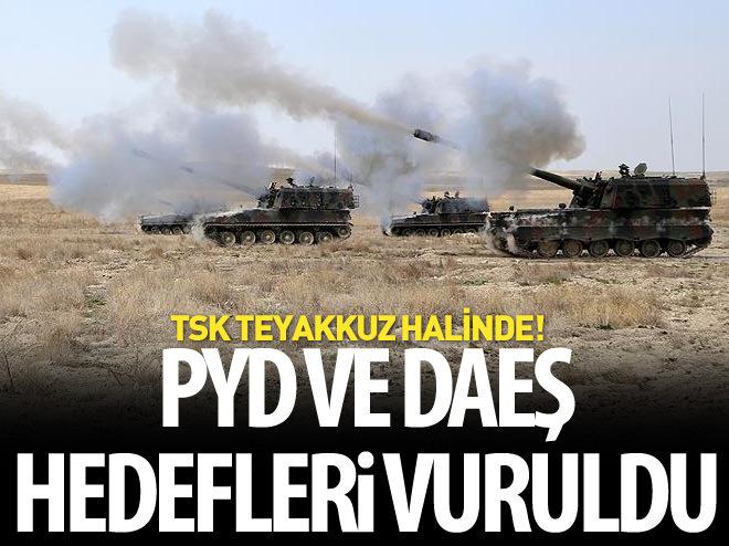 TÜRKİYE, PYD VE DAEŞ HEDEFLERİNİ VURDU!