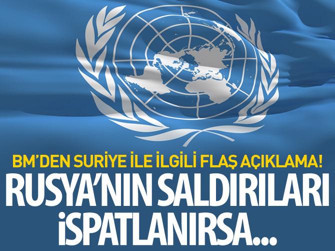 BM: SALDIRILARIN İSPATLANMASI HALİNDE SAVAŞ SUÇU SAYILABİLİR