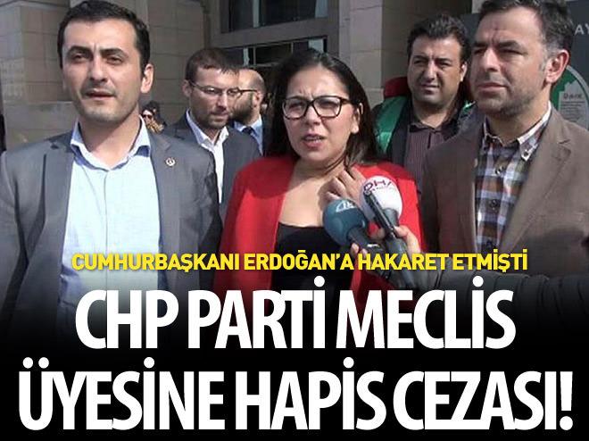 CHP PARTİ MECLİSİ ÜYESİNE CUMHURBAŞKANINA HAKARETTEN HAPİS CEZASI
