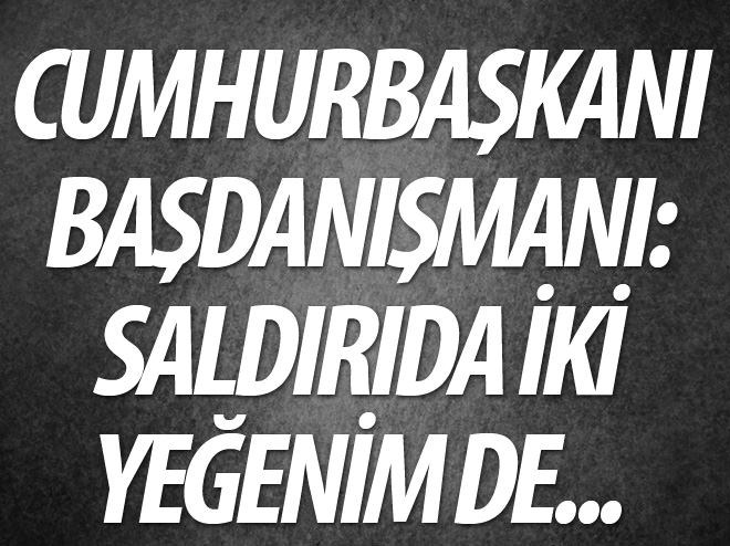 CUMHURBAŞKANI BAŞDANIŞMANI: SALDIRIDA 2 YEĞENİM DE...
