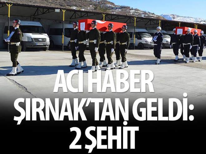 ŞIRNAK İDİL'DE 1 POLİS VE 1 ASKER ŞEHİT OLDU