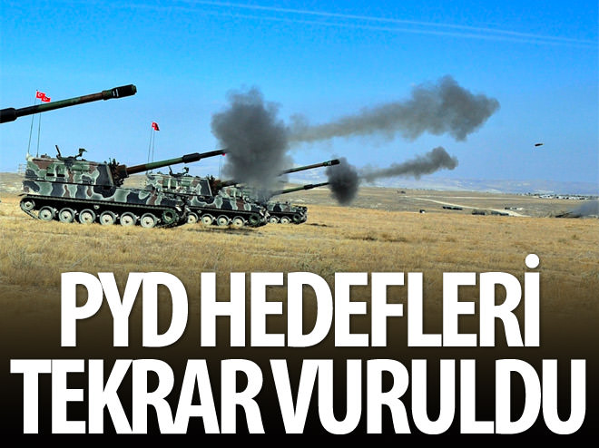 PYD HEDEFLERİ TEKRAR VURULDU!