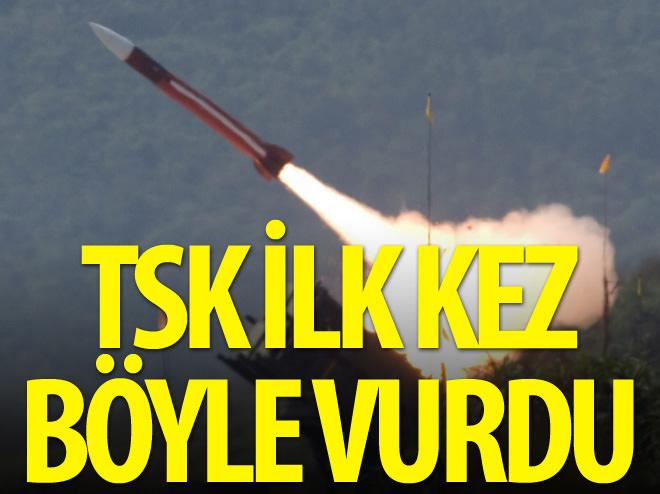 TSK İLK KEZ YPG'Yİ FÜZEYLE VURDU