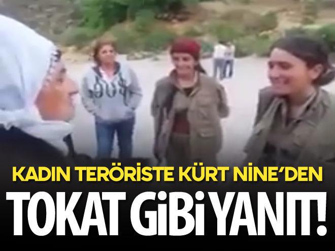 KÜRT NİNE'DEN KADIN TERÖRİSTE TOKAT GİBİ YANIT!