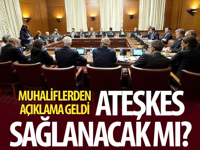 SURİYELİ MUHALİFLERDEN 'ATEŞKES' AÇIKLAMASI