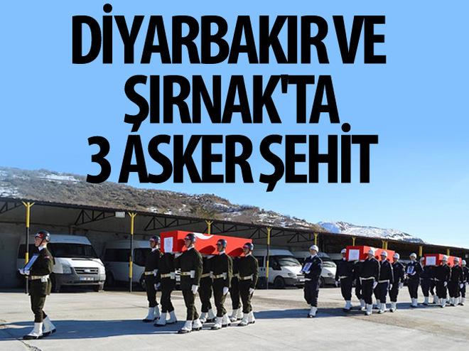 DİYARBAKIR VE ŞIRNAK'TA 3 ASKER ŞEHİT