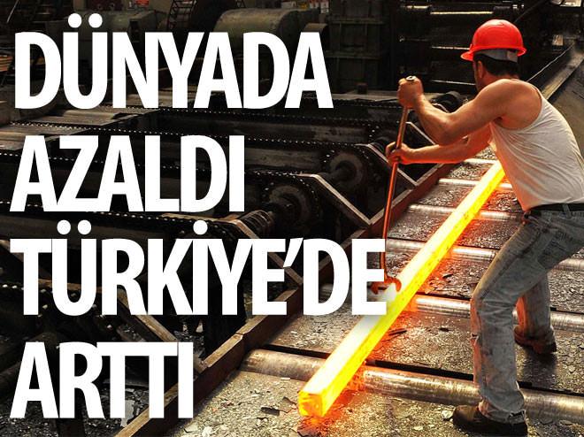 DÜNYADA AZALDI TÜRKİYE'DE ARTTI