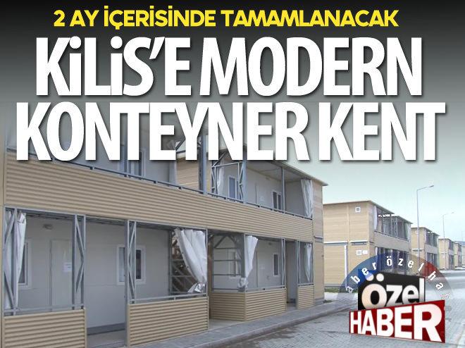 KİLİS'E MODERN KONTEYNER KENT