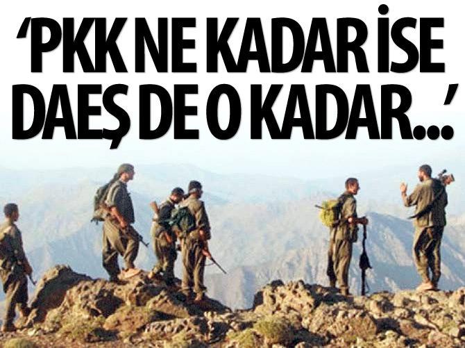 'PKK NE KADAR İSE DAEŞ DE O KADAR...'