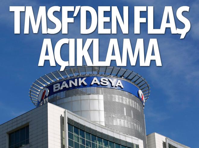 TMSF'DEN BANK ASYA AÇIKLAMASI