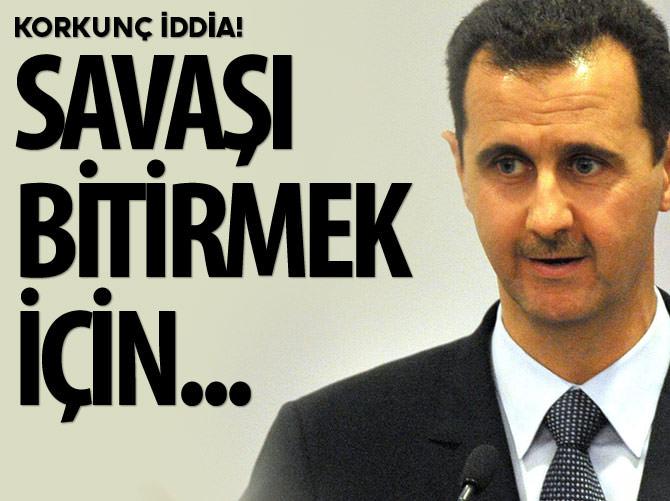 İSRAİL'DEN SURİYE İÇİN KİMYASAL BOMBA UYARISI!