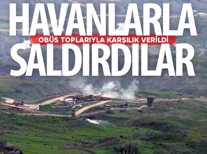 DERECİK'TE ASKERİ ÜS BÖLGESİNE HAVANLI SALDIRI