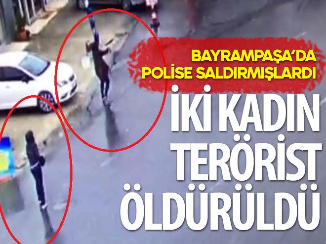 ÇEVİK KUVVET'E SALDIRAN İKİ KADIN TERÖRİST ÖLDÜRÜLDÜ