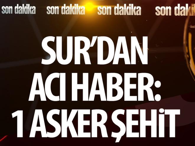 DİYARBAKIR'DA 1 ASKER ŞEHİT OLDU
