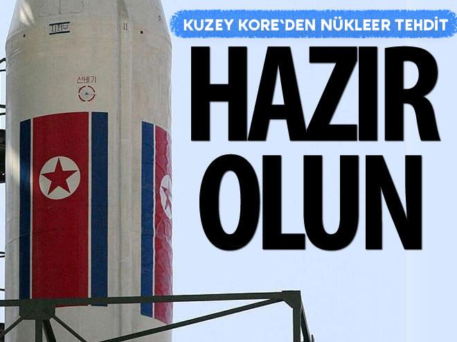 KUZEY KORE'DEN NÜKLEER TEHDİT!