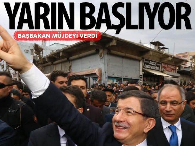 BAŞBAKAN DAVUTOĞLU SİLOPİ'YE MÜJDEYİ VERDİ