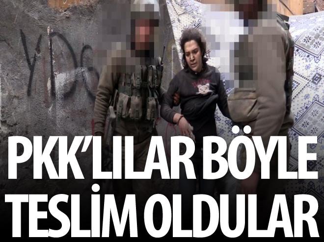 13 PKK'LI BÖYLE TESLİM OLDU