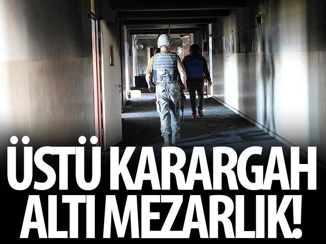 PKK ÖLÜLERİNİ YAKMAK İÇİN OKULDA TOPLUYOR