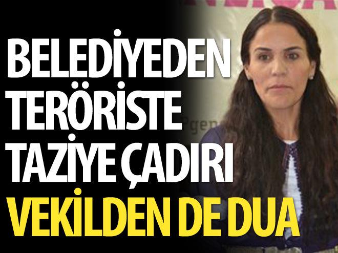 HDP'Lİ VEKİL TERÖRİST İÇİN DUA ETTİ