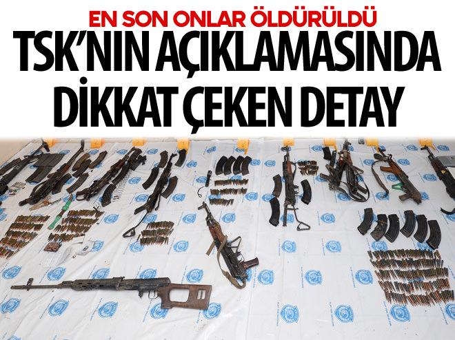 TSK'NIN AÇIKLAMASINDA DİKKAT ÇEKEN DETAY