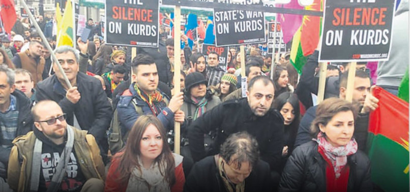 İNGİLİZ VEKİL PKK'LILARLA EL ELE
