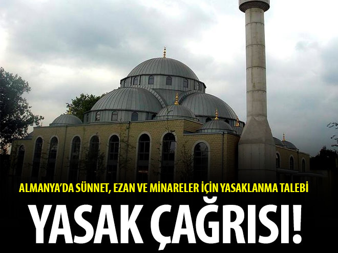 ALMAN AFD PARTİSİ SÜNNET, EZAN VE MİNARELERE YASAK İSTİYOR