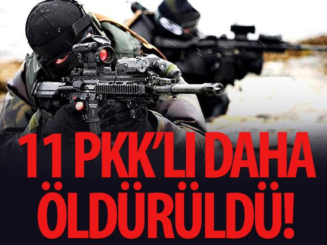 11 PKK'LI DAHA ÖLDÜRÜLDÜ