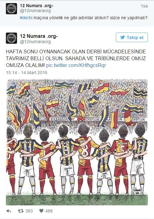 'DERBİYİ OMUZ OMUZA İZLEYELİM ÇAĞRISI'