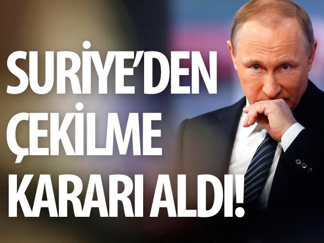 RUSYA, SURİYE'DEN ÇEKİLİYOR!