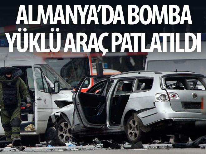 ALMANYA'DA BOMBA YÜKLÜ ARAÇ PATLATILDI!