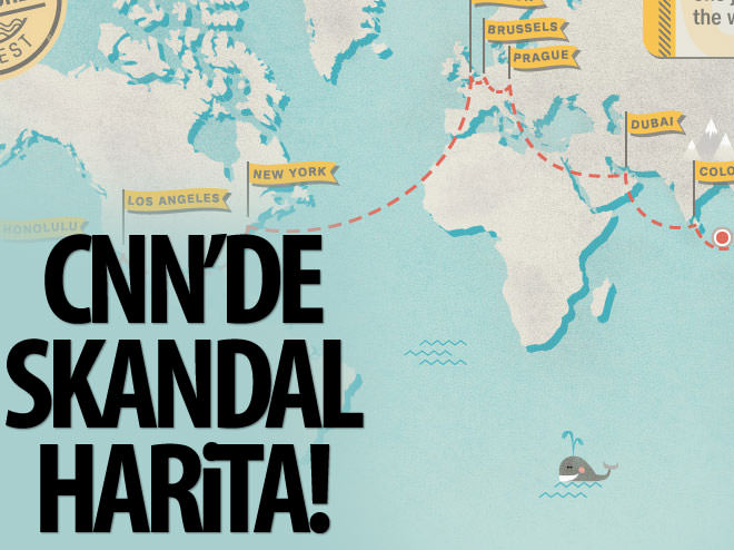 CNN INTERNATİONAL'DA SKANDAL HARİTA!