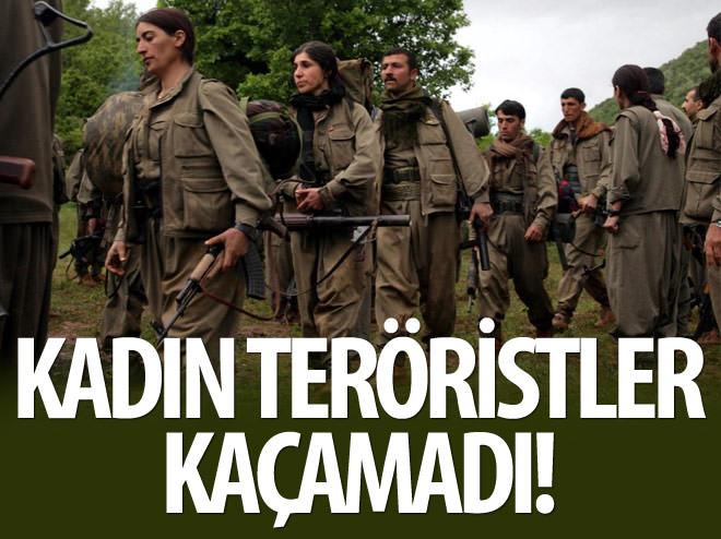 KADIN TERÖRİSTLER POLİSTEN KAÇAMADI!
