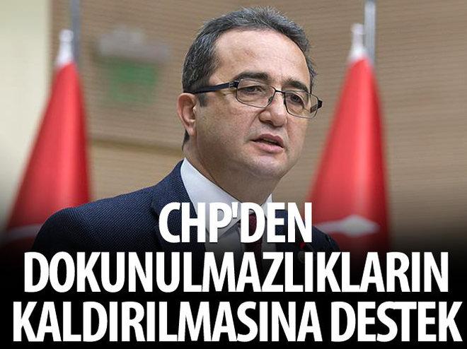 CHP'DEN DOKUNULMAZLIKLARIN KALDIRILMASINA DESTEK