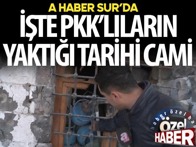 İŞTE PKK'LILARIN YAKTIĞI CAMİ