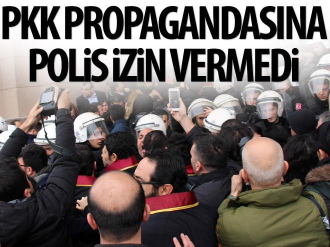 PKK PROPAGANDASINA POLİS İZİN VERMEDİ