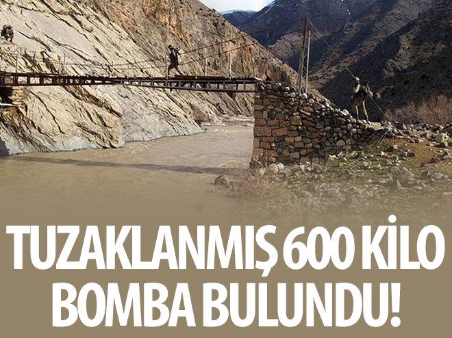 TUNCELİ'DE PKK'LILARIN YOLA DÖŞEDİĞİ PATLAYICI İMHA EDİLDİ
